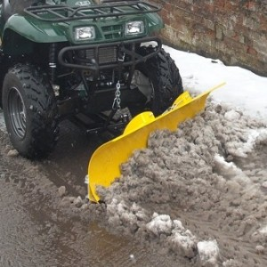 Moose Snow plough on Kawasaki KVF360